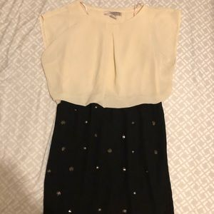 FOREVER21 Two-color Mini Chiffon Dress